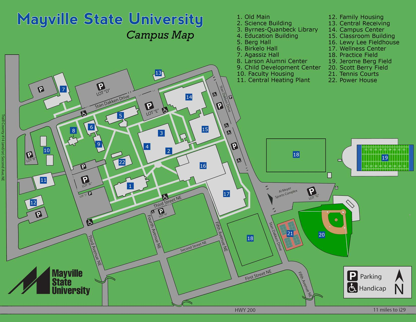 Campus Map :: Mayville State University :: Mayville, ND