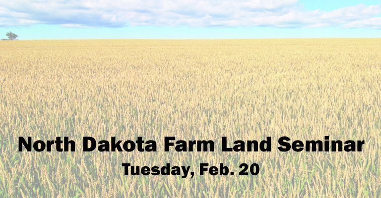North Dakota farm land seminar planned in Mayville